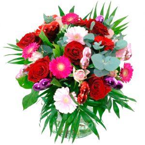 Romantisch boeket rood roze