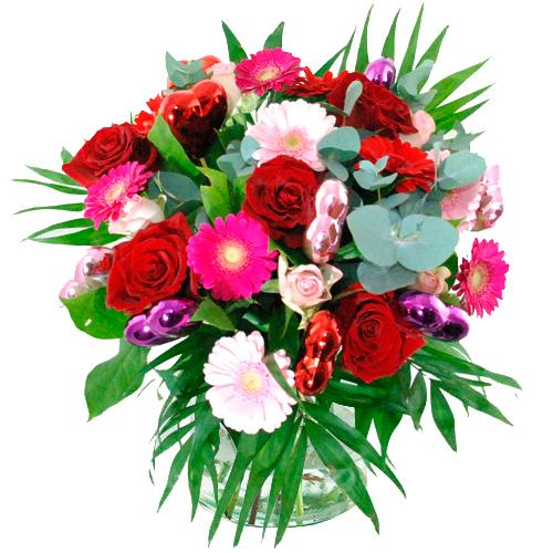Valentijn boeket rood roze