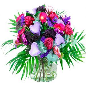 Valentijn boeket lila paars