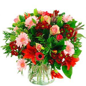 Valentijn boeket roze rood