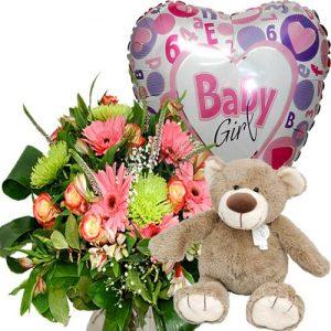Compleet geboorte cadeau meisje