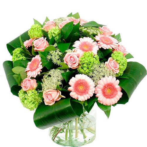 Bloemen buitenland roze - wit