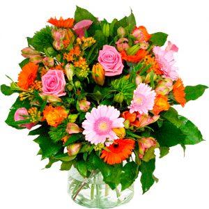 Moederdag boeket oranje roze