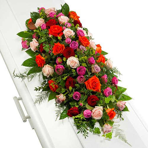 Kistversiering van rozen
