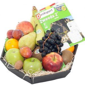 Fruitmand met puzzelboek
