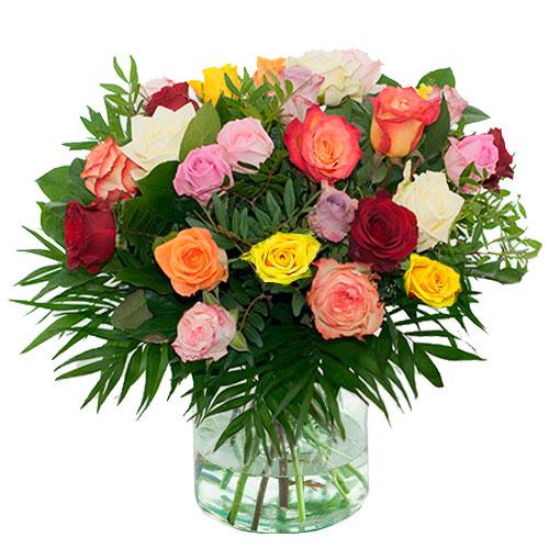 Boeket gemengde rozen