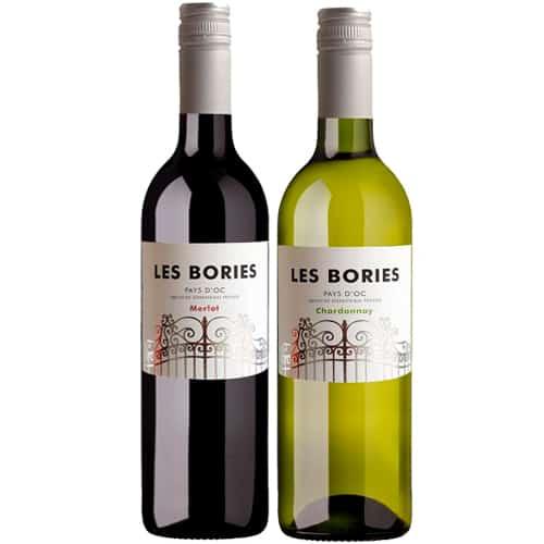 Les Bories duo merlot & chardonnay