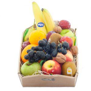 Fruitkistje met gemengd fruit