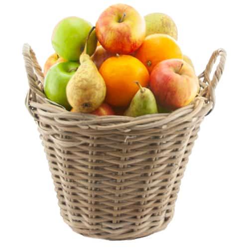 Fruitmand vol met plukfruit