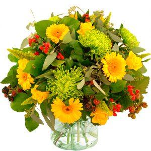 Najaarsboeket geel-groen