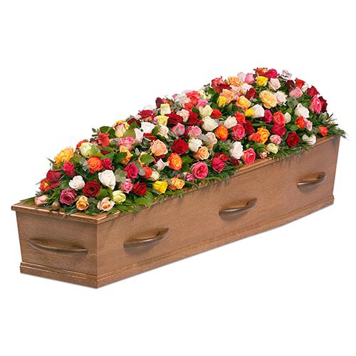 Kistversiering gemengde rozen