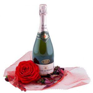 veuve du vernay rosé valentijn